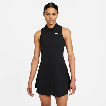 Nike Court Victory tennisjurkje Dames Zwart