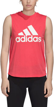 adidas Must Haves Badge of Sport top Dames Rood