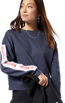 Reebok Training Essentials Logo sweater Dames Blauw