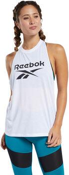 Reebok Workout Ready Supremium Big Logo top Wit