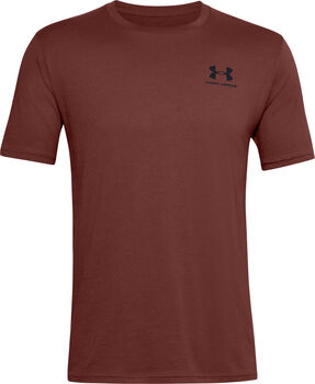 Under Armour Sportstyle Left Chest t-shirt Heren Rood