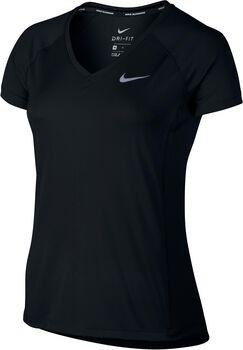 Nike Dry Miler Running Shirt Dames Zwart
