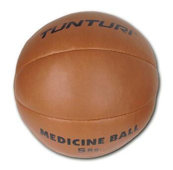 tunturi medicine ball synthetic leather 5kg Bruin