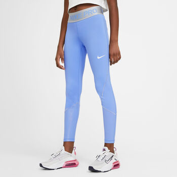 Nike Pro Warm kids legging Meisjes Blauw
