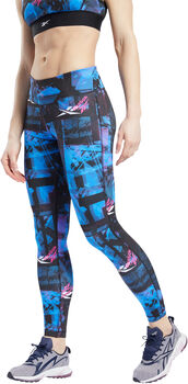 Reebok Workout Ready MYT Bedrukte legging Dames Zwart