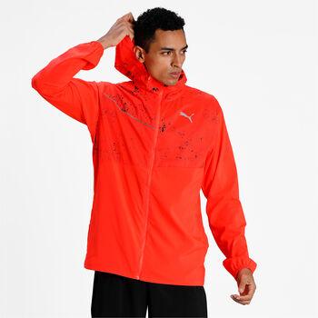 Puma Run Graphic hoodie jas Heren Oranje