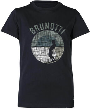 Brunotti Tim-Print kids t-shirt Jongens Zwart