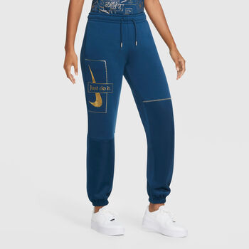 Nike Sportswear Icon Clash broek Dames Blauw