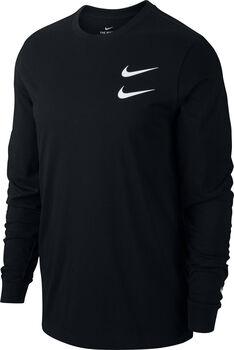 Nike Sportswear Swoosh longsleeve Heren Zwart
