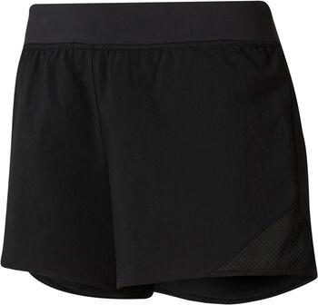 Reebok Workout Ready Knit Woven short Dames Zwart