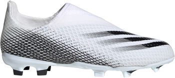 adidas X Ghosted.3 Laceless Firm Ground Voetbalschoenen Wit