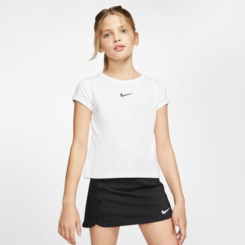 Nike Court Dry kids shirt  Meisjes Wit