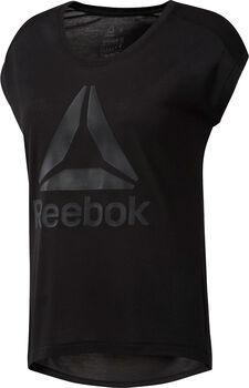 Reebok Workout Ready Supremium 2.0 Big Logo shirt Dames Zwart