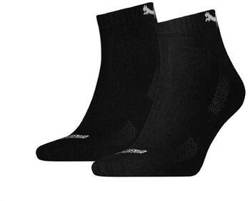 Puma Cushioned Quarter sokken (2 paar) Heren Zwart