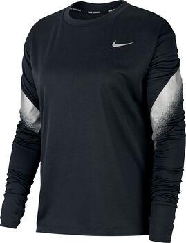 Nike Running longsleeve Dames Zwart