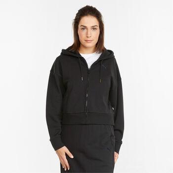 Puma Her Full-Zip Training hoodie Dames Zwart