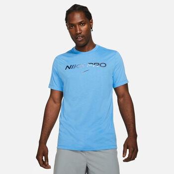 Nike Pro shirt Heren Blauw