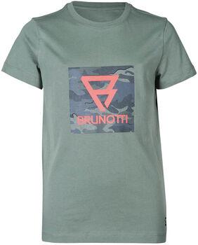 Brunotti Tim-Print kids t-shirt Jongens Groen