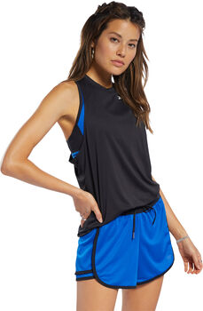 Reebok Workout Ready Mesh Panel top Dames Zwart