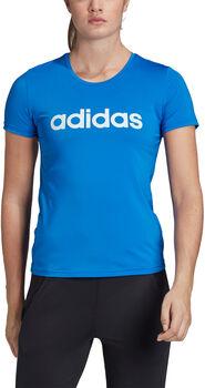 adidas Designed To Move Logo t-shirt Dames Blauw