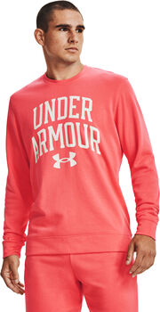 Under Armour Rival Terry Crew hoodie Heren Roze