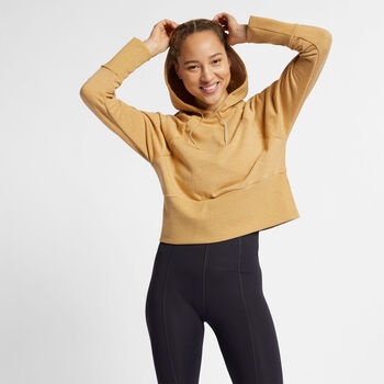 Nike Studio Versa hoodie Dames Geel
