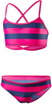 Speedo Duo Stripe crop jr bikini  Meisjes Blauw