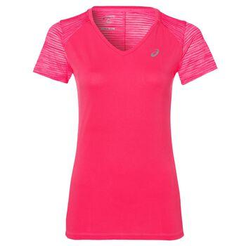 Asics FuzeX V-Neck shirt Dames Roze
