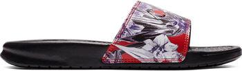 Nike Benassi Just Do It Print slippers Dames Zwart