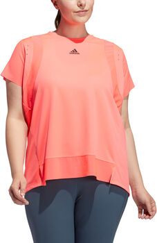 adidas HEAT.RDY Training t-shirt (Grote Maat) Dames Rood