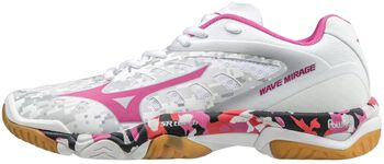 Mizuno Wave Mirage indoorschoenen Dames Wit