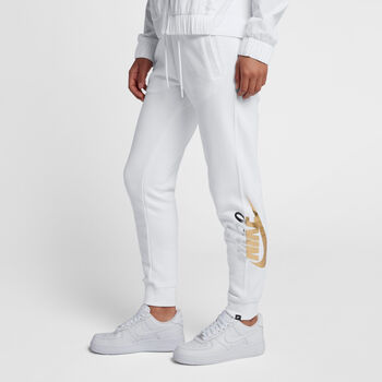 Nike Rally Metallic sweatpant Dames Wit