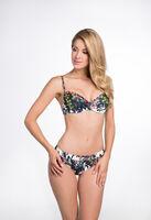 Allover Structure Print halter Bikini