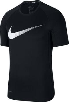 Nike Pro Graphic shirt Heren Zwart