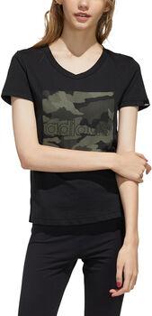 ADIDAS Boxed Camo Graphic shirt Dames Zwart