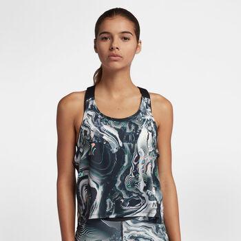 Nike Pro top Dames Geel