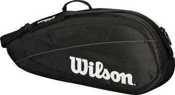 Wilson Federer Team 3-racket tas Zwart