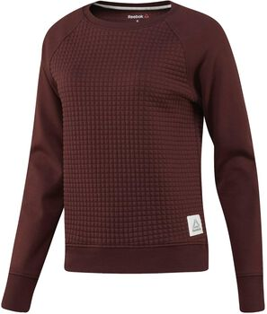 Reebok El Quilted Crew sweater Dames Bruin