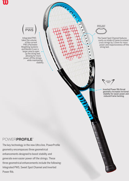 Ultra 100L BK tennisracket