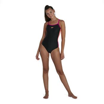 Speedo Dive Thinstrap Muscleback badpak Dames Zwart