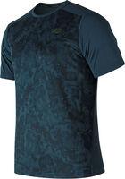 New Balance Run shirt Heren Blauw