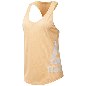 Reebok Workout Ready Mesh top Dames Zwart