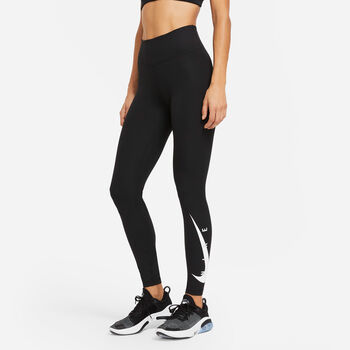 Nike Swoosh Run legging Dames Zwart