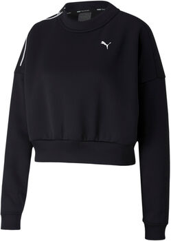 Puma Train Zip Crew shirt Dames Zwart