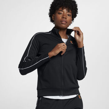 NikeCourt trainingsjack Dames Zwart