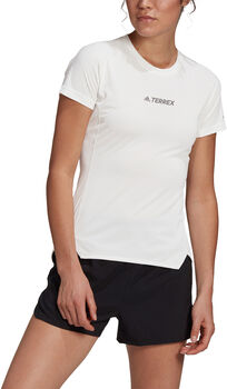 adidas Terrex Parley Agravic Trail Running All-Around T-shirt Dames Wit