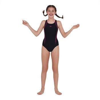 Speedo Boomstar Splice kids badpak Meisjes Zwart