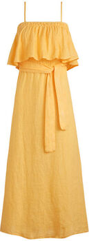 Beach Life Ruffle jurk Dames Geel