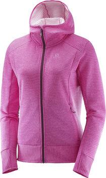 Salomon Right Nice Mid hoodie Dames Roze