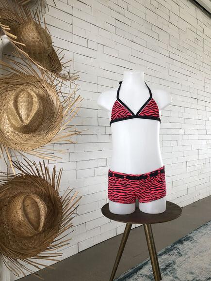 Halter Shorty Snake girls bikini